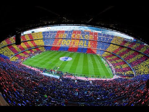 BARÇA 5-1 MADRID | The mosaic and the anthem before #ElClasico