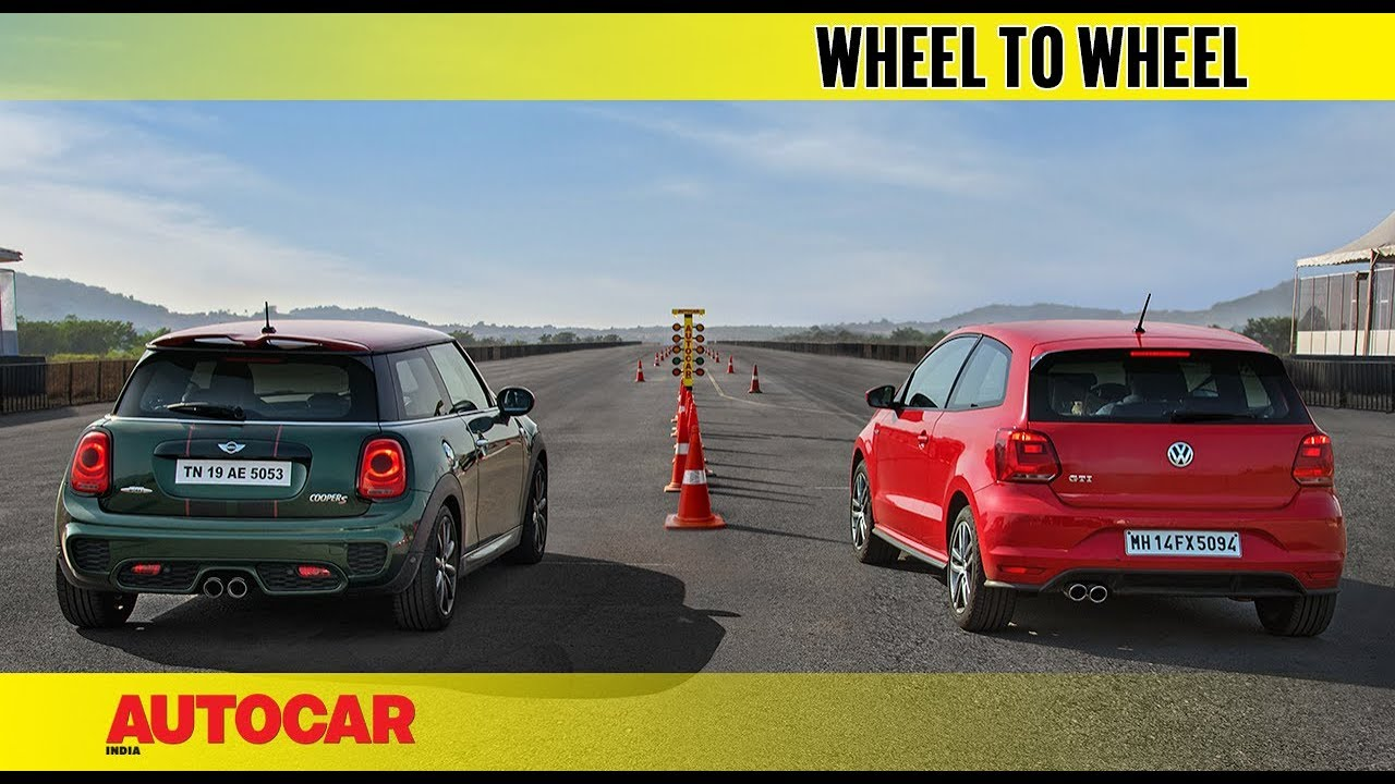Drag Race Mini Cooper S Jcw Pro Edition Vs Vw Gti Autocar India