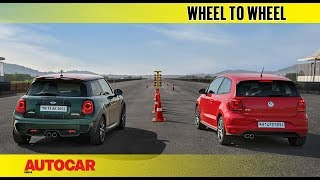 Drag Race : Mini Cooper S JCW Pro Edition vs VW GTI | Autocar India