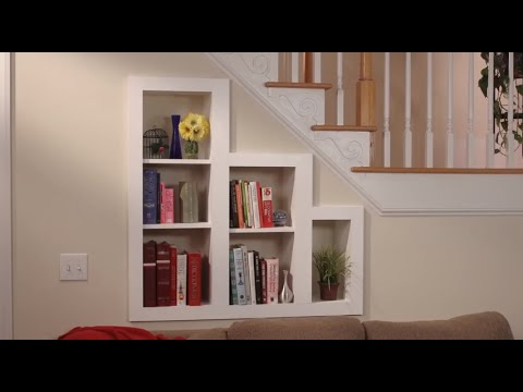 Hidden Storage Under The Stairs Bookcase Youtube