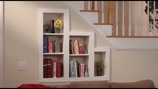 Hidden Storage: Under-the-stairs Bookcase