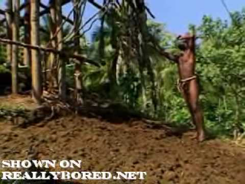 Tribe Men Jump 80 Feet Into the Ground
