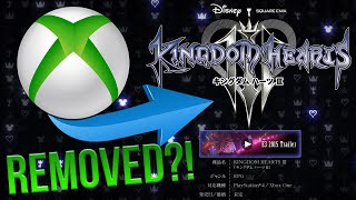 KINGDOM HEARTS 3 REMOVED FROM THE XBOX STORE?