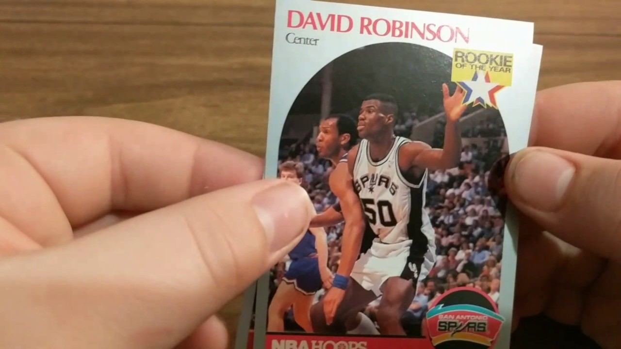 Rookierookie Of The Year David Robinson Pulled Out Of Vintage Nba Hoops Pack