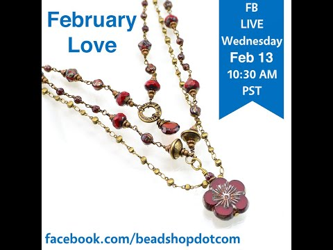 Beadshop LIVE Czech Glass Beads + Chain + Wire. The February Love Necklace
