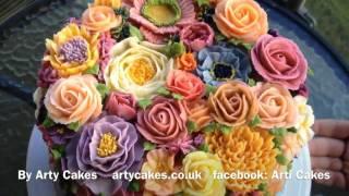 Buttercream Floral Garden Cake
