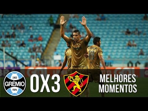 Grêmio 0x3 Sport - Melhores Momentos - Campeonato Brasileiro 07/11/2016 HD