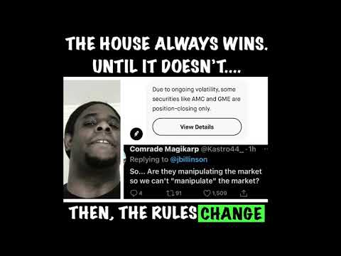 The house ALWAYS wins.....until it doesn't