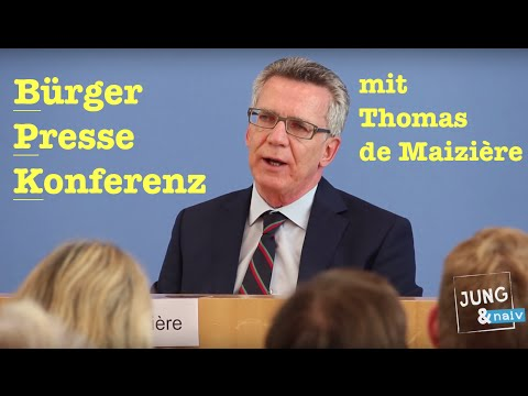BürgerPresseKonferenz mit Bundesinnenminister Thomas de Maizière