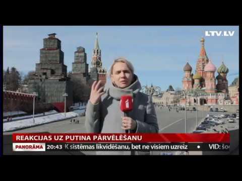 Reakcijas uz Putina pārvēlēšanu