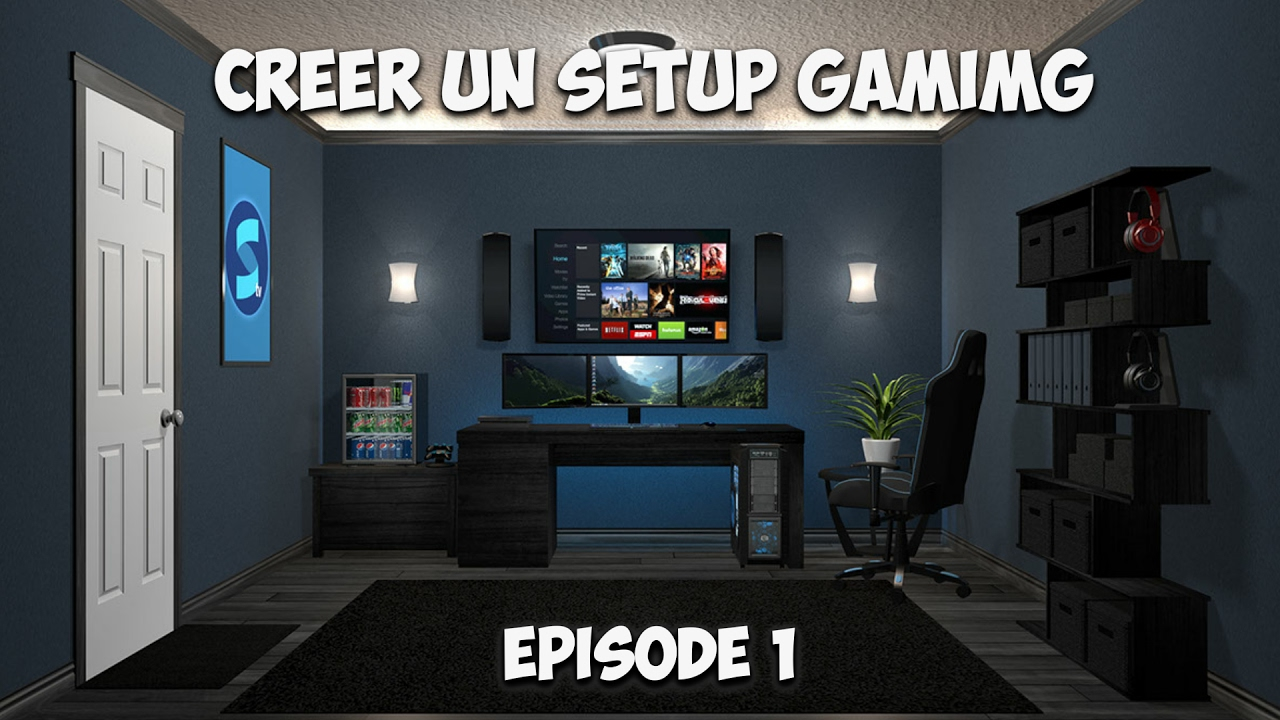 Cr er un setup gaming 01 youtube - Bureau gamer fait maison ...