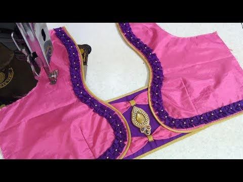 Easy and simple blouse back neck designing || Designer blouse || latest designs of ladies blouses ||