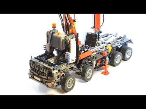 Lego Mercedes Arocs 3245 With Pneumatic System Stop Motion Review