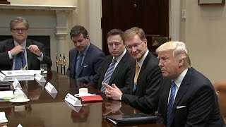 President Trump hosts congressional leaders at White House