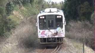 【のと鉄道】での《花咲くいろは》ラッピング車両を[西岸]~[能登鹿島]間にて撮影してみました。