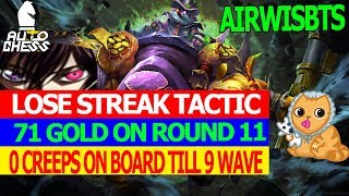 ROUND 11 = 71 GOLD IN AUTO CHESS l PRO GAMEPLAY TIPS AND TRICKS l 0 CREEPS ON BOARD TILL 9 WAVE