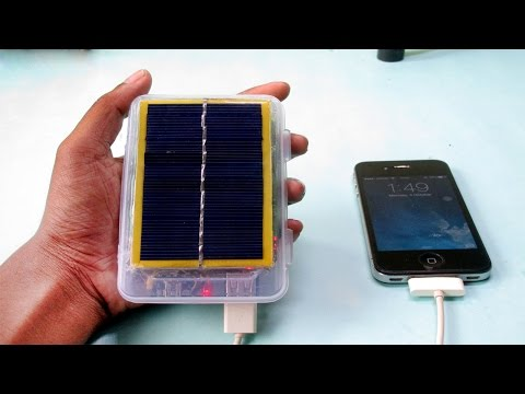 DIY Solar Power Bank from Old Laptop Battery