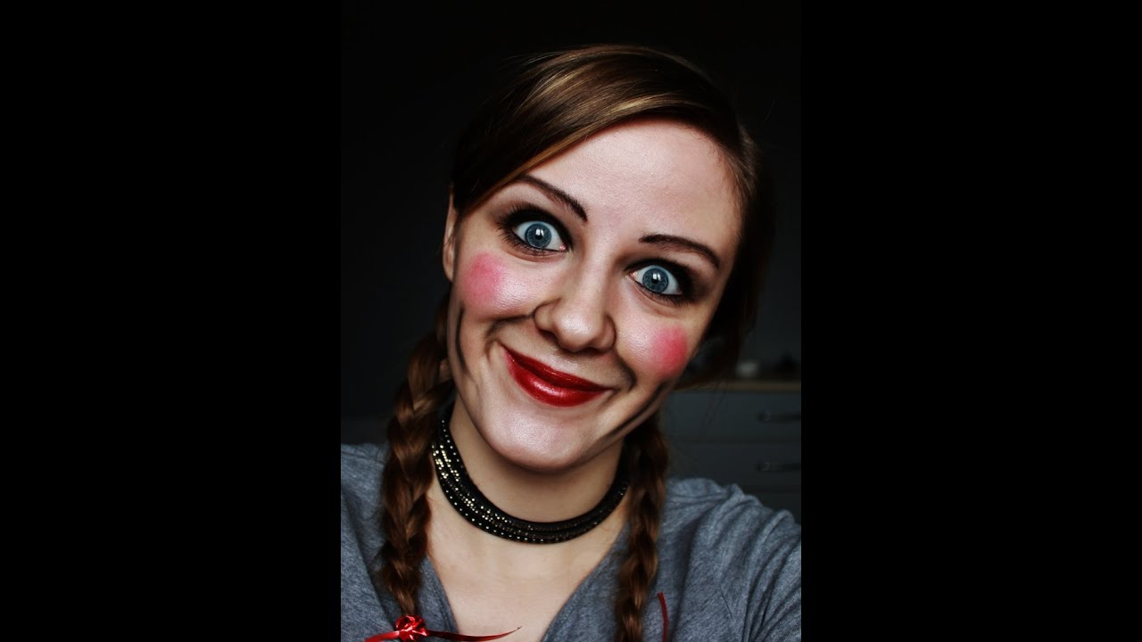 Maquillage d 39 halloween poup e annabelle youtube - Maquillage poupee halloween ...