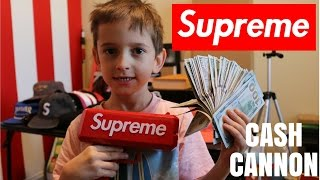 5000 in a supreme cash cannon money gun ballin