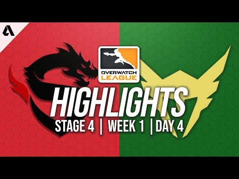Shanghai Dragons vs Los Angeles Valiant   Overwatch League Highlights OWL Stage 4 Week 1 Day 4