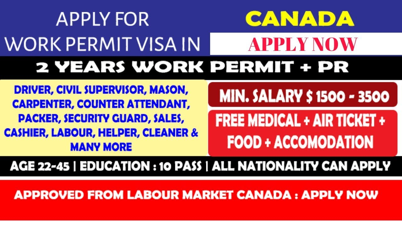 10th pass jobs in Canada // Feb 2019 // Everyone can apply