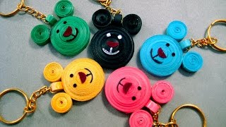 Paper Quilling Designs - Micky Mouse Paper Quilling Designs Key Chain Making @ ekunji.com