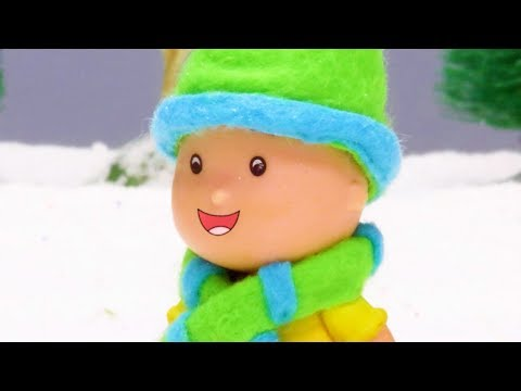 NEW! SNOWMAN | Funny Animated cartoons Kids | WATCH ONLINE | Caillou Stop Motion | cartoon movie