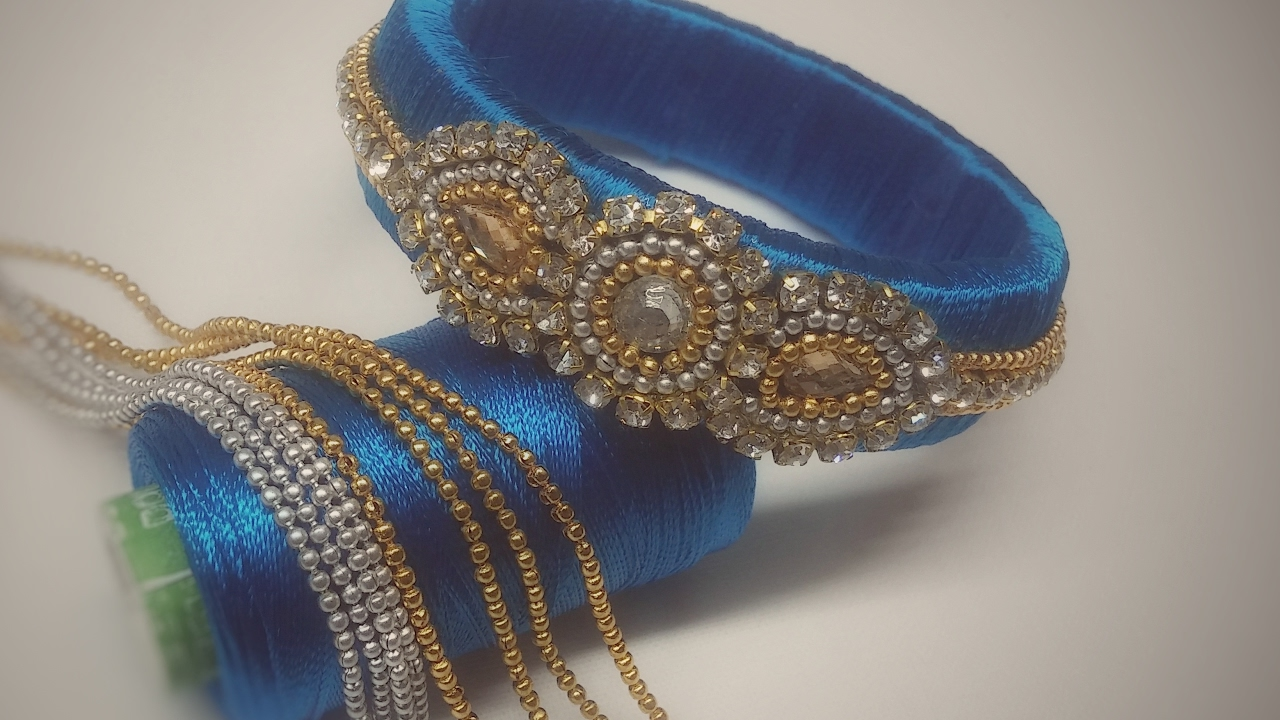 Silk thread bangles/silk thread new design bangles/jewellery ...