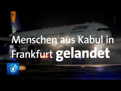 Lufthansa-Maschine mit Menschen aus Kabul in Deutschland gelandet