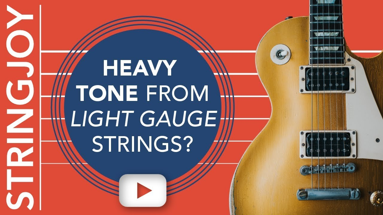 can you get heavy guitar string tone from a light gauge set youtube. Black Bedroom Furniture Sets. Home Design Ideas