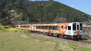 JR四国 春の土讃線 2000系 アンパンマン列車 走行 2020 04