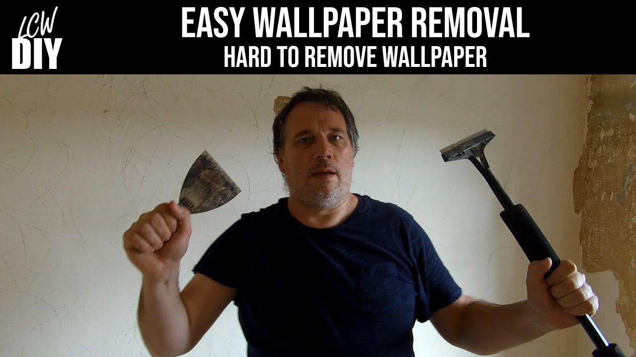 Easy Wallpaper Removal Tough Stubborn Hard To Remove Wallpaper Diy Vlog 5 Youtube