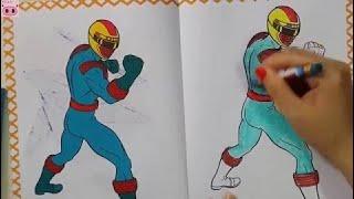 Tập 5: Bé tập tô màu siêu nhân gao xanh lá cây - Power Ranger toys