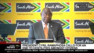 Pres. Ramaphosa assures world that govt working on a safe SA