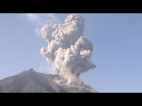 Explosive Eruptions, Shock Waves, Flying Lava Bombs - Sakurajima Volcano 4K Stock Footage Screener