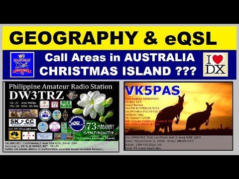 EQSL Cards @ AUSTRALIA VK Territories : Improve Map Skills & Computer Skills Tru Ham Radio