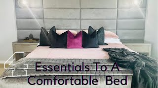 HOW TO GET TΗE BEST SLEEP USING THESE 4 INEXPENSIVE BEDDING ESSENTIALS!!//COMFORT & FUNCTIONAL!