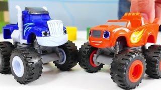 spielzeugautos monster machines blaze und crusher machen ein rennen