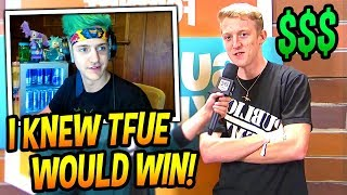 NINJA REACTS TO TFUE WINNING AT $1,500,000 SUMMER SKIRMISH TOURNAMENT! (CRAZY) Fortnite Moments