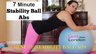 7 Minute Stability Ball Abs | Laura London Fitness