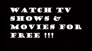 How to watch FREE MOVIES online without downloading - How to watch TV SHOWS for free online