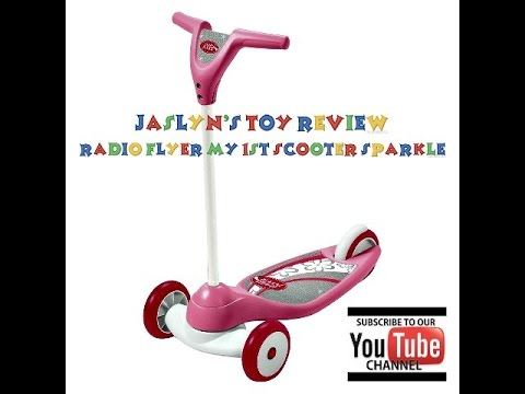 RADIO FLYER MY 1ST SCOOTER SPARKLE JASLYN TV TOY REVIEW