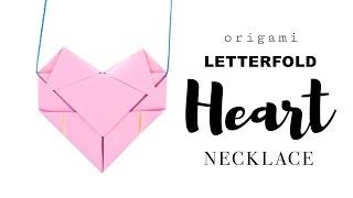 Easy Origami Heart Necklace Tutorial ♥︎ DIY ♥︎ Paper Kawaii