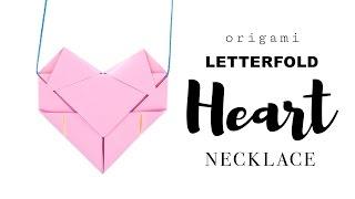 Easy Origami Heart Necklace Tutorial ♥︎ DIY ♥︎ Paper Kawaii