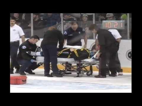Mitchell Wheaton Serious Injury- Hit by Roberts Lipsbergs WHL (11/19/13)