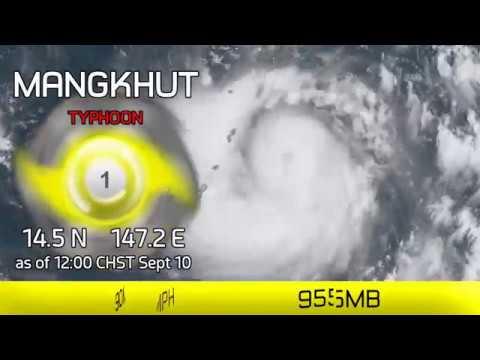 Typhoon Mangkhut blows through Mariana Islands - 12pm CHST, Sept 10 2018