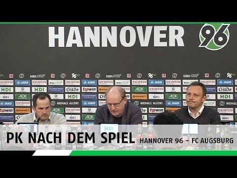 PK nach dem Spiel   Hannover 96 - FC Augsburg