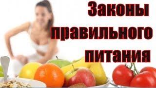 Основные законы правильного питания. Здоровое питание. Правила и принципы здорового питания. Аннада