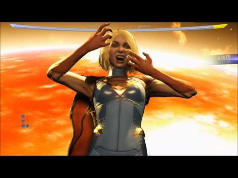 Injustice 2 - Supergirl - Asteroid Shower | Super Move Shown (HD) [1080p60FPS]