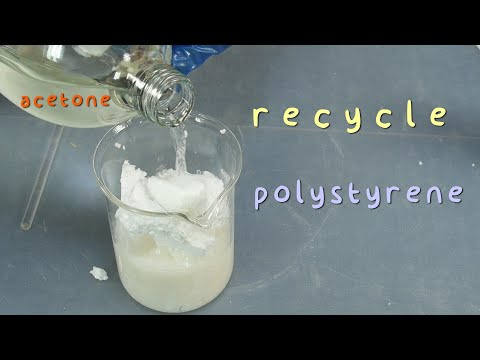 Recycling Polystyrene. Plastic Forming.